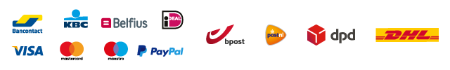 Partners Ingenico - Visa - Mastercard - Maestro - Bancontact - iDeal - Carte Bleue - Bpost - DPD - PostNL - DHL